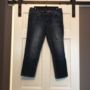 Seven7 cropped ankle skinny jeans